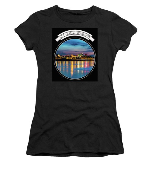 Women's T-Shirt (Junior Cut) featuring the photograph Amazing Warsaw Tee 1 by Julis Simo