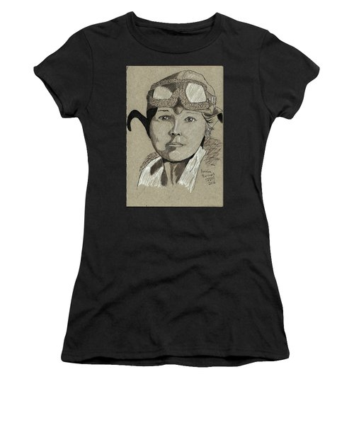 Amelia Earhart Women's T-Shirt (Athletic Fit)