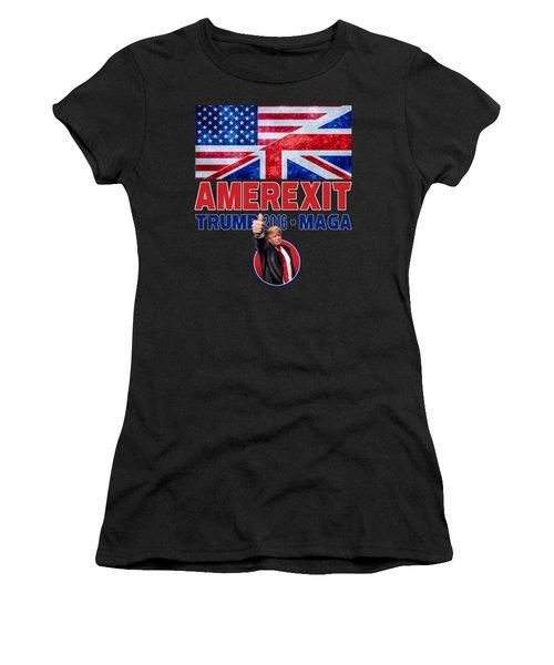 Amerexit Women's T-Shirt (Junior Cut) by Don Olea