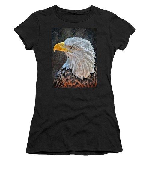 Women's T-Shirt (Junior Cut) featuring the photograph American Bald Eagle by Savannah Gibbs