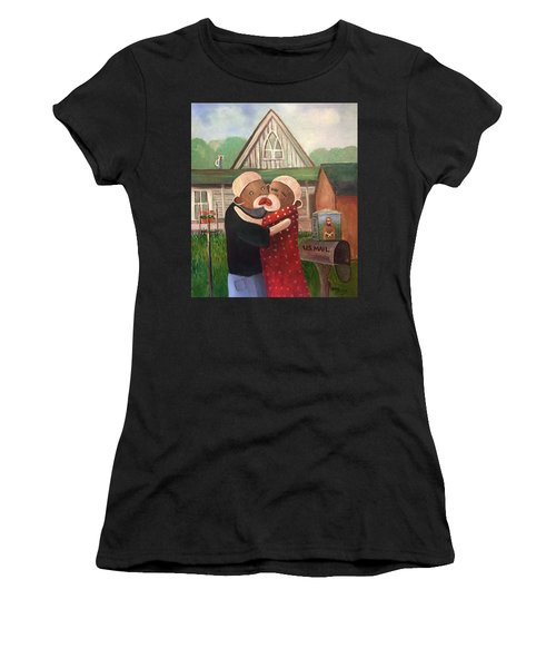 American Gothic The Monkey Lisa And The Holler Women's T-Shirt