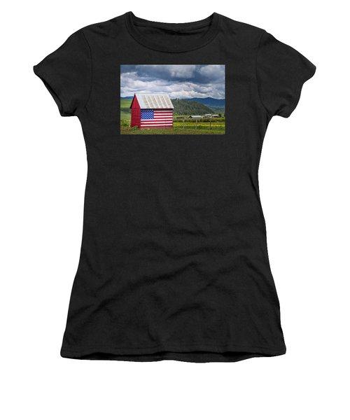 American Landscape Women's T-Shirt (Athletic Fit)