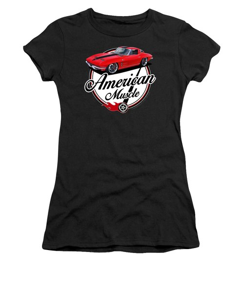 American Muscle In Red Women's T-Shirt