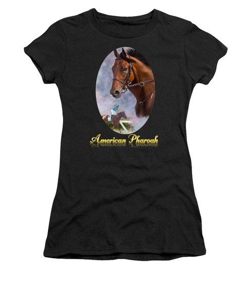 American Pharoah Framed Women's T-Shirt