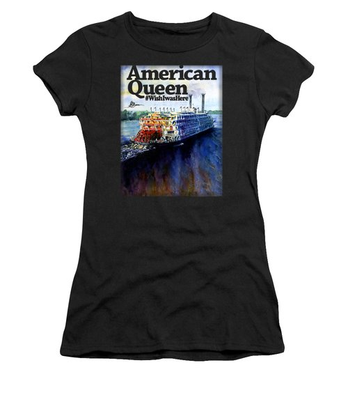 American Queen Shirt Women's T-Shirt (Athletic Fit)