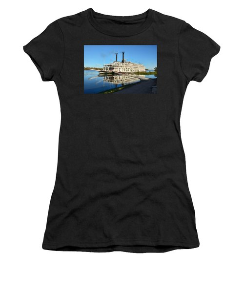 American Queen Steamboat Reflections On The Mississippi River Women's T-Shirt (Athletic Fit)