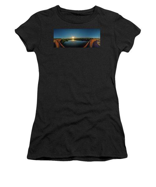 American River At Sunrise - Panorama Women's T-Shirt