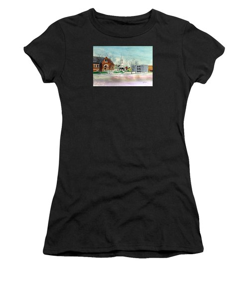 Amesbury Public Library Circa 1920 Women's T-Shirt (Athletic Fit)