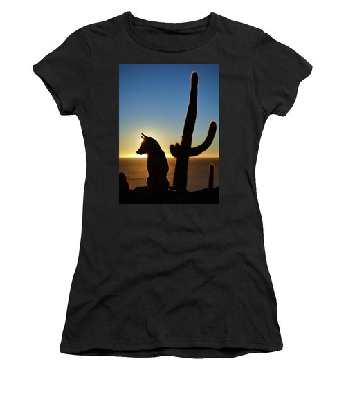 Women's T-Shirt (Junior Cut) featuring the photograph Amigo by Skip Hunt