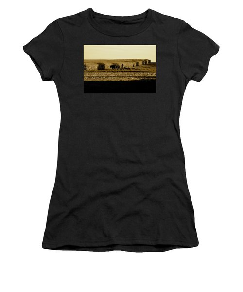 Amish Cornfield In Shadows Women's T-Shirt