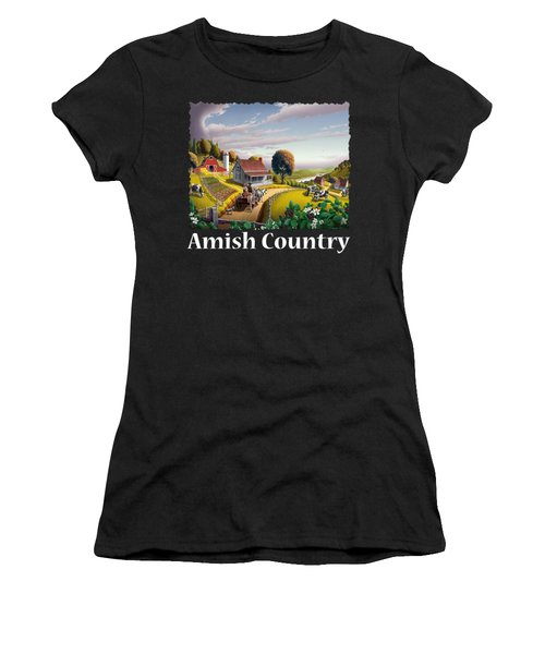 Amish Country T Shirt - Appalachian Blackberry Patch Country Farm Landscape Women's T-Shirt
