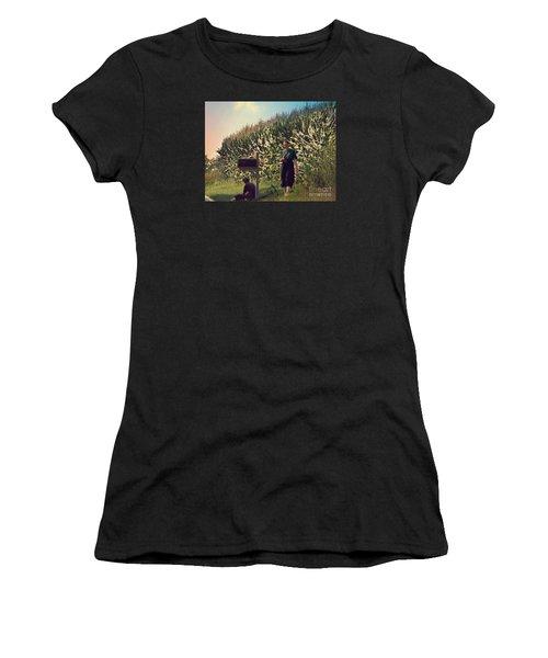 Amish Girls Watermelon Break Women's T-Shirt (Athletic Fit)