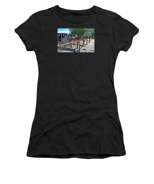 Amish Parking Lot Women's T-Shirt (Athletic Fit)
