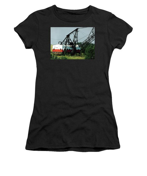 Abandoned Dragline Excavator In Amish Country Women's T-Shirt (Athletic Fit)