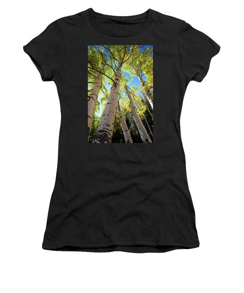 Women's T-Shirt (Junior Cut) featuring the photograph Aspen Dance by Dana Sohr