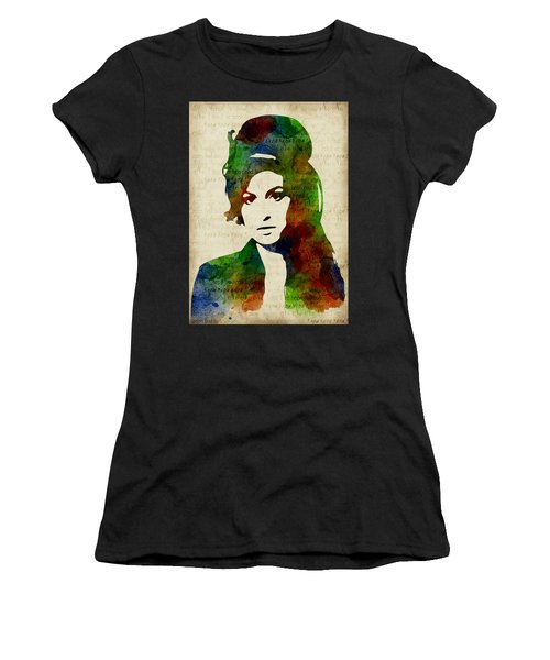 Amy Winehouse Watercolor Women's T-Shirt (Athletic Fit)