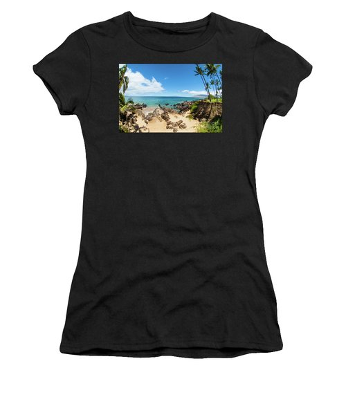 Women's T-Shirt (Junior Cut) featuring the photograph Amzing Beach In Hawaii Islands by Micah May