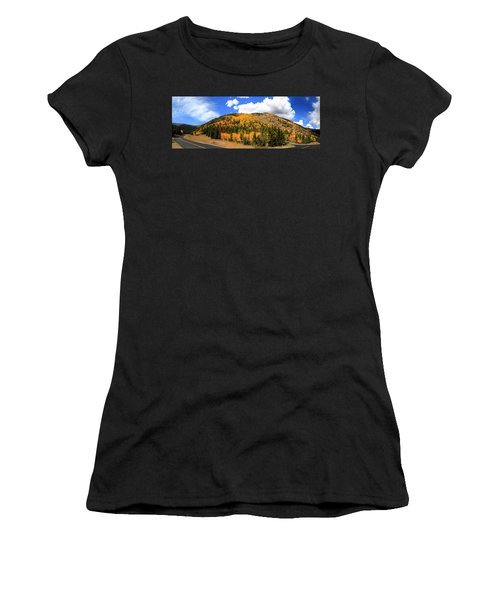 An Autumn Drive - Panorama Women's T-Shirt (Athletic Fit)