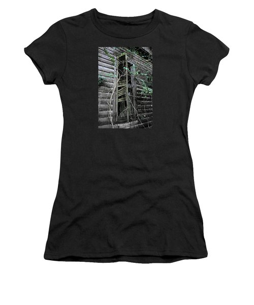 An Old Shuttered Window Women's T-Shirt (Athletic Fit)