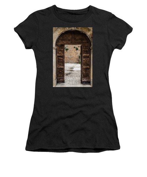 An Old Wooden Door 2 Women's T-Shirt