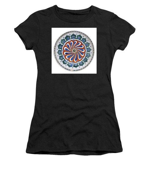 An Ottoman Iznik Style Floral Design Pottery Polychrome, By Adam Asar, No 20 Women's T-Shirt