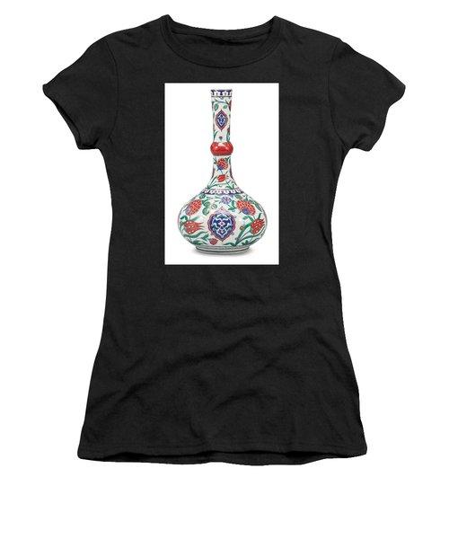 An Ottoman Iznik Style Floral Design Pottery Polychrome, By Adam Asar, No 5 Women's T-Shirt