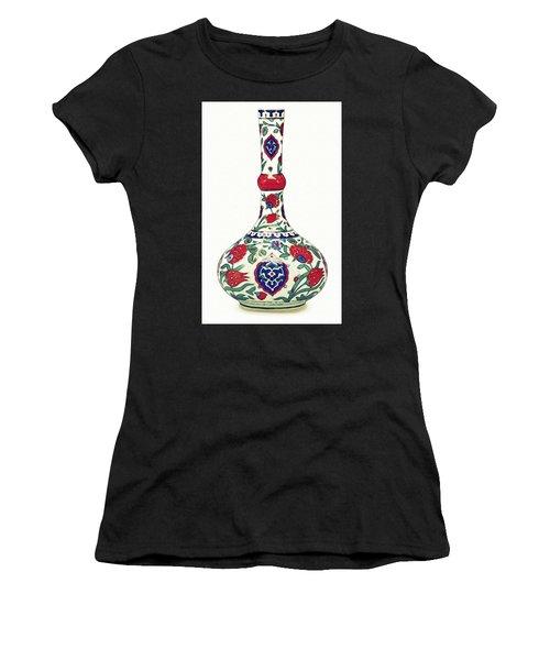 An Ottoman Iznik Style Floral Design Pottery Polychrome, By Adam Asar, No 5a Women's T-Shirt