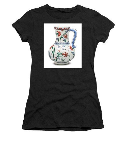 An Ottoman Iznik Style Floral Design Pottery Polychrome, By Adam Asar, No 6 Women's T-Shirt
