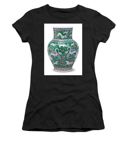 An Ottoman Iznik Style Floral Design Pottery Polychrome, By Adam Asar, No 7 Women's T-Shirt