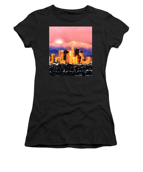 Women's T-Shirt (Junior Cut) featuring the digital art Anchorage by Elaine Ossipov