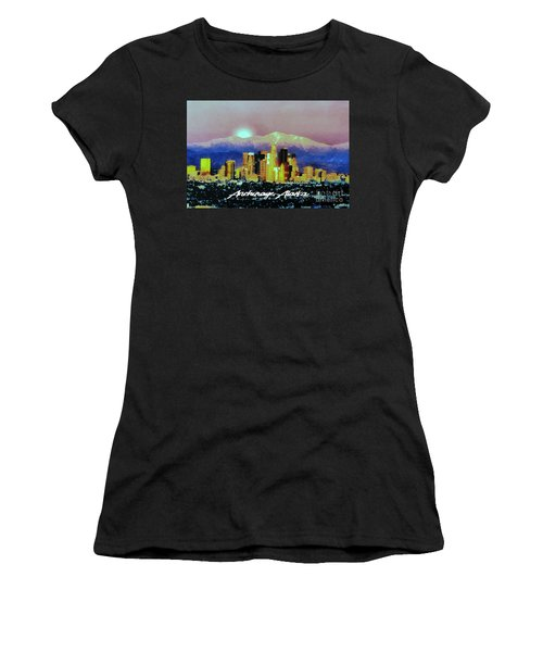 Anchorage-subdued Women's T-Shirt (Junior Cut) by Elaine Ossipov