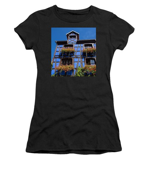 Ancient Alsace Auberge In Blue Women's T-Shirt