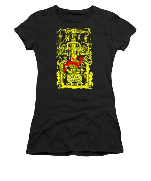 Ancient Astronaut Yellow And Red Version Women's T-Shirt