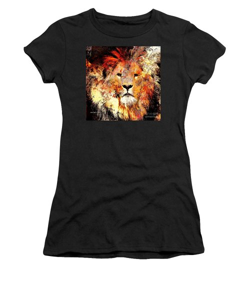Ancient Lion King Women's T-Shirt (Athletic Fit)