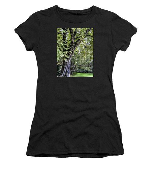 Ancient Tree Luxembourg Gardens Paris Women's T-Shirt (Athletic Fit)