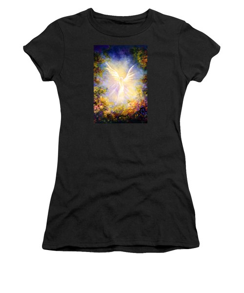 Angel Descending Women's T-Shirt (Junior Cut) by Marina Petro