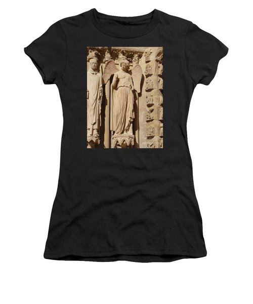 Angel In Reims Women's T-Shirt (Athletic Fit)