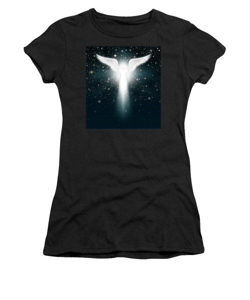 Angel In The Night Sky Women's T-Shirt (Athletic Fit)