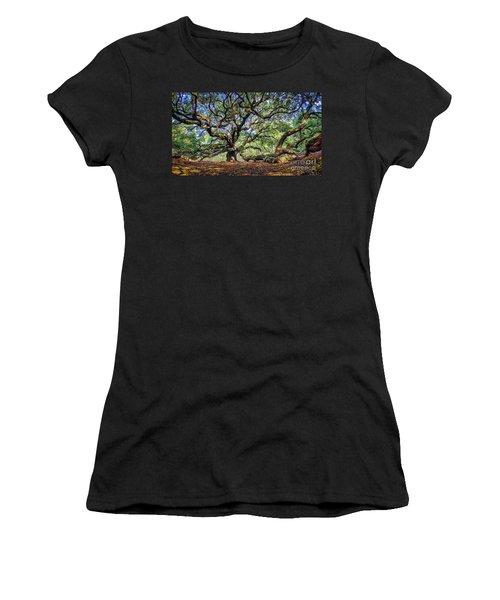 Angel Oak In Digital Oils Women's T-Shirt
