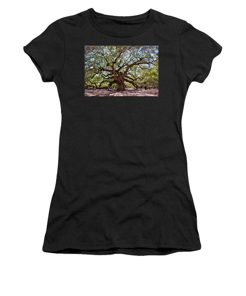 Angel Oak Tree 009 Women's T-Shirt (Athletic Fit)