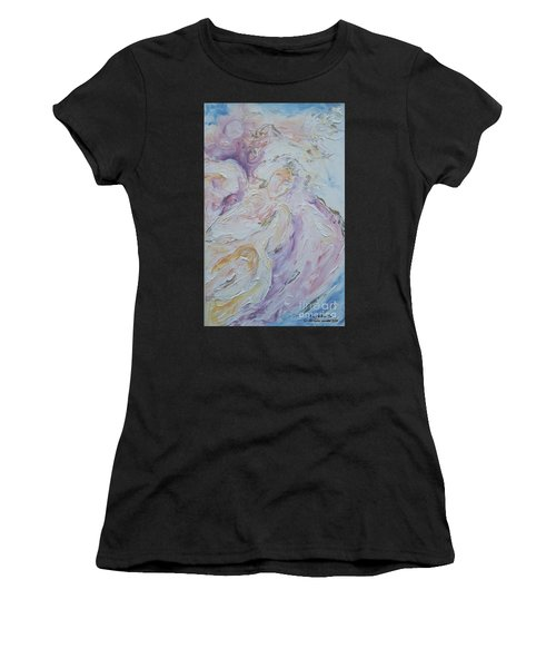 Angel Of Messages Women's T-Shirt (Athletic Fit)
