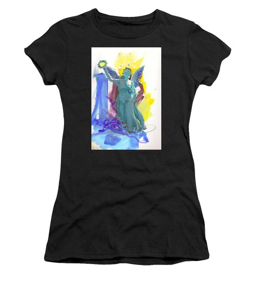 Angel, Victory Is Now Women's T-Shirt (Athletic Fit)