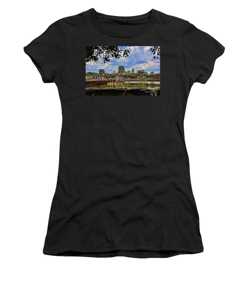 Angkor Wat Panorama  Women's T-Shirt (Athletic Fit)