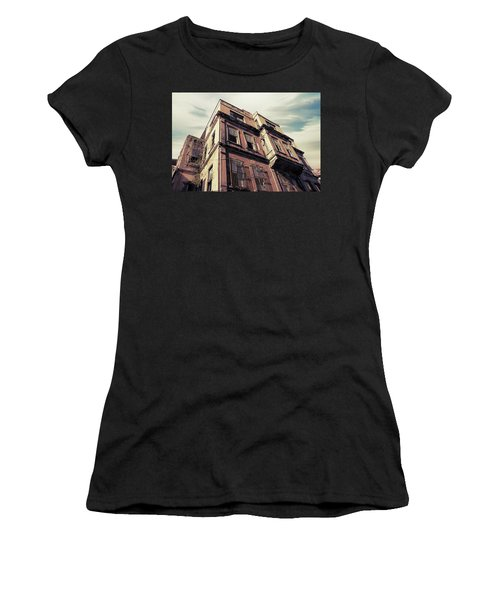 Women's T-Shirt (Athletic Fit) featuring the photograph Angles Of Attrition by Joseph Westrupp