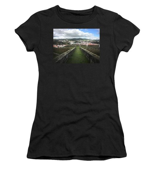 Angra Do Heroismo From The Fortress Of Sao Joao Baptista Women's T-Shirt