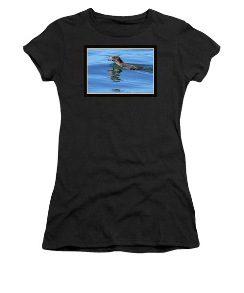Angry Bird Women's T-Shirt (Junior Cut) by BYETPhotography