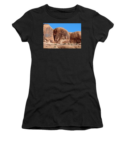 Angry Rock - 3  Women's T-Shirt (Athletic Fit)