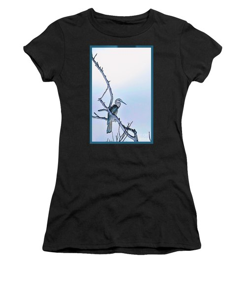 Anhinga In Blue Women's T-Shirt (Athletic Fit)