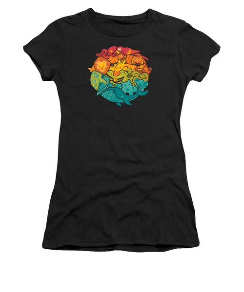 Animals Of The World Women's T-Shirt (Junior Cut) by Craig Carr