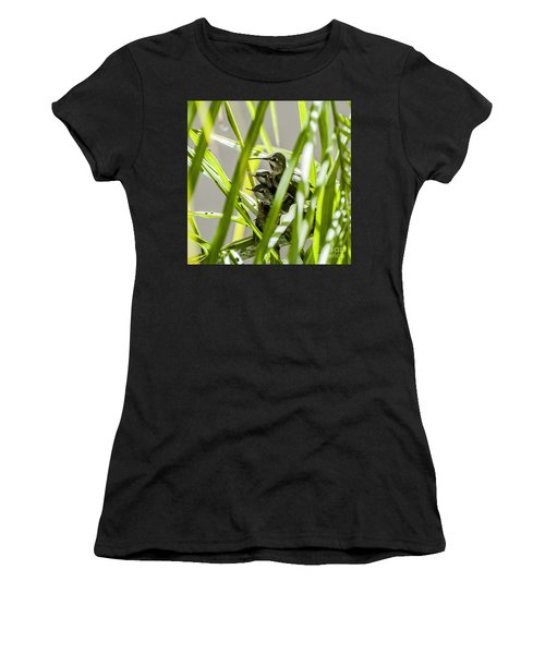 Anna Hummer On Nest Women's T-Shirt (Athletic Fit)